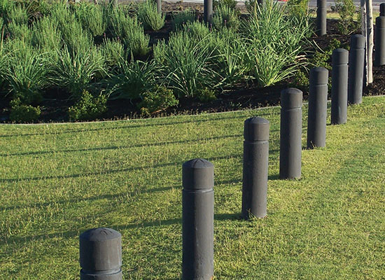 PERMAPole Bollards with rebates