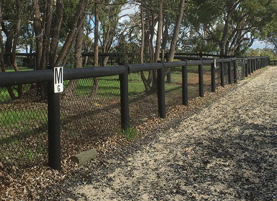 PERMAPole post and rail fence - Dressage arena
